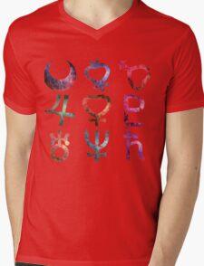 Sailor Moon symbols grunge universe pattern Mens V-Neck T-Shirt