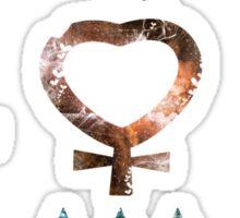 Sailor Moon symbols grunge universe pattern Sticker