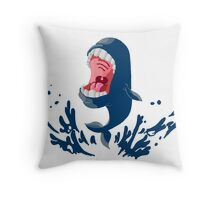 Weird Big Mouthed Whale Throw Pillow