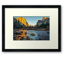 Valley View Sunset Framed Print
