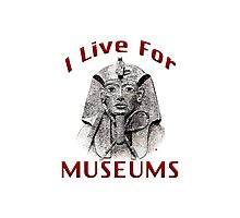 I Live For Museums Photographic Print