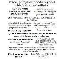 BBC Sherlock - Moriarty Quotes Photographic Print