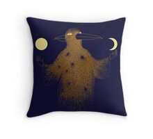 Crow Moon Shaman Throw Pillow