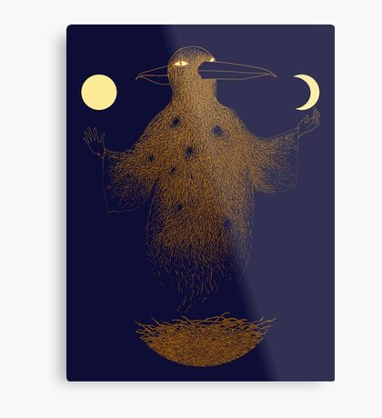 Crow Moon Shaman Metal Print