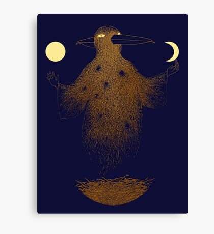 Crow Moon Shaman Canvas Print