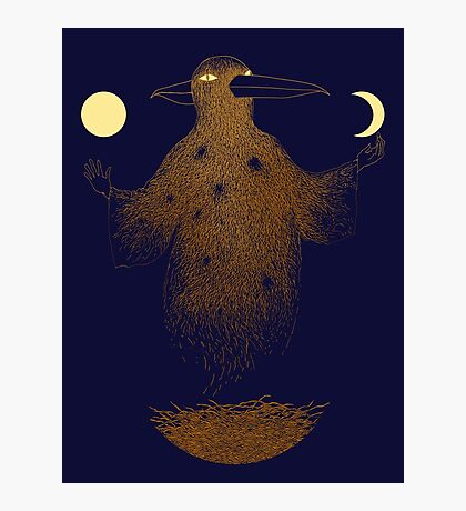 Crow Moon Shaman Photographic Print