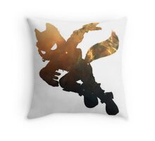 Fox Galaxy Throw Pillow