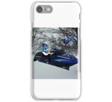 BLUE JAY ON ON SKI-DOO-- PLAYS GUITAR SERENADES MATE --VARIOUS FUN BLUE JAYS APPAREL... iPhone Case/Skin