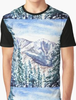 Winter In The Mountains  Graphic T-Shirt