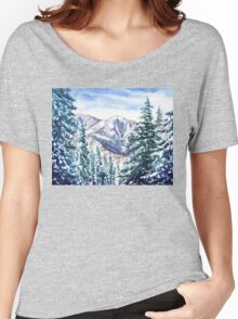 Winter In The Mountains  Women's Relaxed Fit T-Shirt