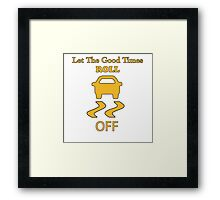 traction control off Framed Print