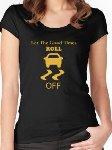 traction control off Women's Fitted Scoop T-Shirt