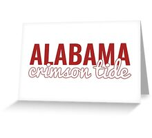 University of Alabama Greeting Card