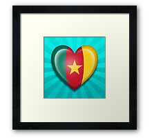 Cameroon Heart Flag Framed Print