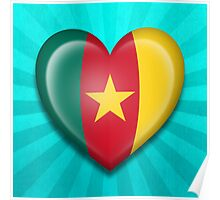 Cameroon Heart Flag Poster