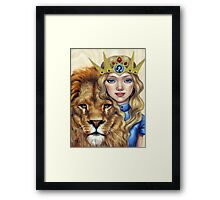 Leo Girl Framed Print