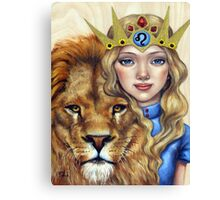 Leo Girl Canvas Print