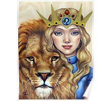 Leo Girl Poster