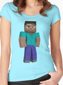 Minecraft Steve Women's Fitted Scoop T-Shirt