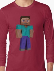 Minecraft Steve Long Sleeve T-Shirt