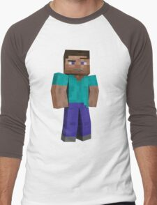 Minecraft Steve Men's Baseball ¾ T-Shirt