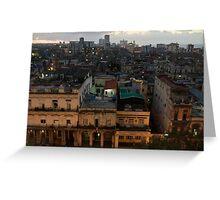 Cuba - Old Havana - dusk Greeting Card