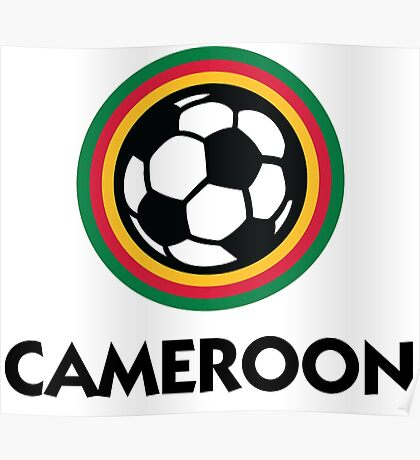 Football coat of arms of Cameroon Poster