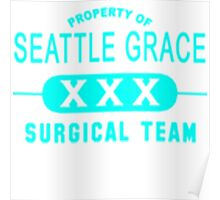 Property of Seattle Grace in Aqua  Poster