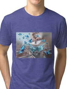 Discovery with a tip of a pen Tri-blend T-Shirt