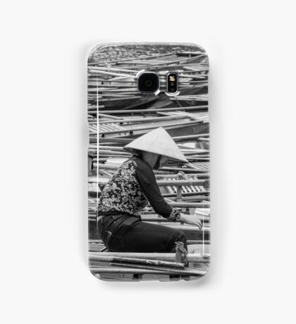 Vietnamese Boat Lady in Tam Coc Samsung Galaxy Case/Skin