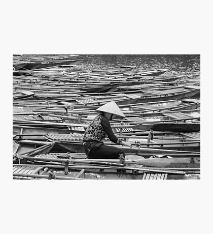 Vietnamese Boat Lady in Tam Coc Photographic Print