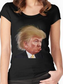 Donald Trump Funny Meme Women's Fitted Scoop T-Shirt