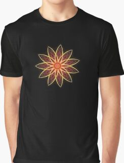 Fractal Flower - Red  Graphic T-Shirt