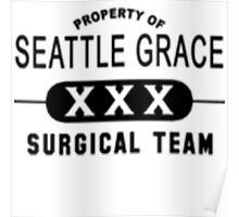 Property of Seattle Grace in Black  Poster