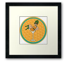 'Bootylicious Pineapple' Pin up girl Framed Print
