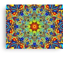 Psychedelic Melting Pot Mandala   Canvas Print