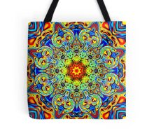 Psychedelic Melting Pot Mandala   Tote Bag