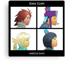 Sima Clan - Imbecile Days Canvas Print