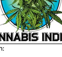 Cannabis Indica Jar Label Sticker