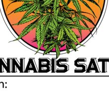 Cannabis Sativa Jar Label Sticker