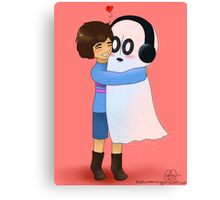 Squishy Hugs for Napstablook Canvas Print