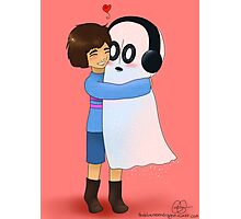 Squishy Hugs for Napstablook Photographic Print