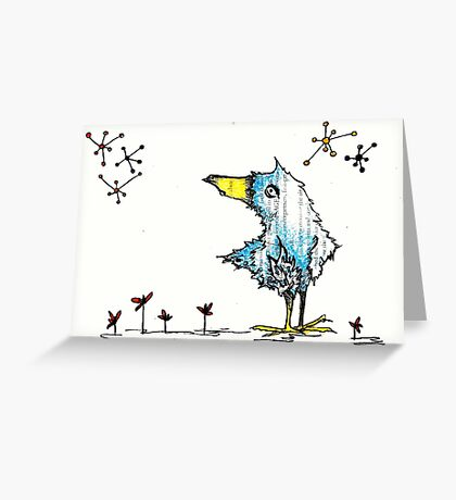 The Bird is the Word Greeting Card