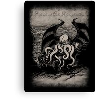 Cthulhu - Rise Great Old One Canvas Print