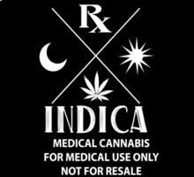 Medical Cannabis vintage style Indica Label Sticker