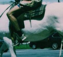 Travis Scott RODEO Riding Horse Sticker
