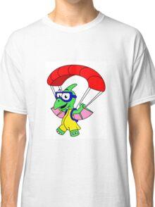 Illustration of a pterodactyl parachuting. Classic T-Shirt