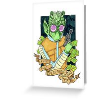 C.R.E.A.M. - Credits Rule Everything Around Me Greeting Card
