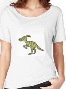 Cute illustration of a Parasaurolophus dinosaur. Women's Relaxed Fit T-Shirt