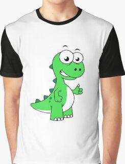 Cute illustration of Tyrannosaurus Rex. Graphic T-Shirt